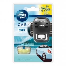 Ambientador para coche aqua aparato y recambio Ambipur 1 ud.