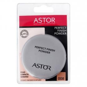 Polvos microfinos de acabado maquillaje natural, mate con borla aplicadora - perfect finish powder nº008
