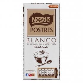 Chocolate blanco especial postres Nestlé sin gluten 180 g.