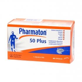 Complemento alimenticio 50 Plus Pharmaton 60 comprimidos.