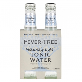 Tónica Fever Tree light pack de 4 botellas de 20 cl.