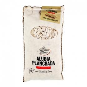 Alubia blanca planchada categoría extra De Nuestra Tierra 1 kg.