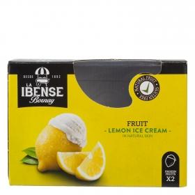 Helado de limón crema