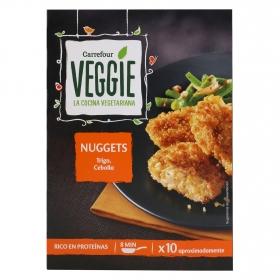 Nuggets vegetal de proteínas de trigo y cebolla Veggie Carrefour Veggie 200 g.