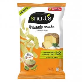 Aperitivo de guisantes con queso y eneldo Grefusa Snatt's 95 g.