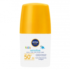 Protección solar en roll-on SPF 50+ Kids Sensitive Nivea Sun 50 ml.