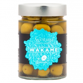 Aceitunas manzanilla con alga wakame