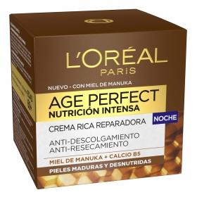 Crema rica reparadora noche Age Perfect Nutrición Intensa L'Oréal 50 ml.