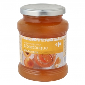 Mermelada de albaricoque categoría extra Carrefour 410 g.