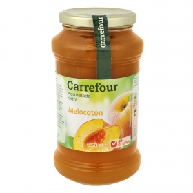 Mermelada de melocotón categoría extra Carrefour sin gluten 650 g.
