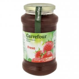 Mermelada de fresa catgoría extra Carrefour sin gluten 650 g.