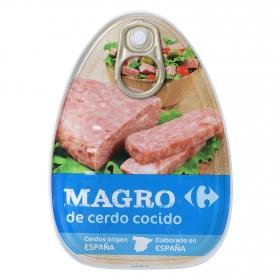 Magro de cerdo cocido en su jugo