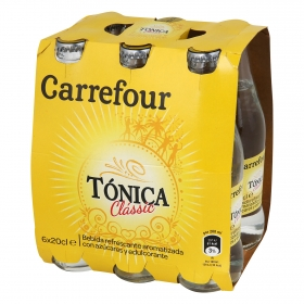 Tónica Carrefour pack de 6 botellas de 20 cl.