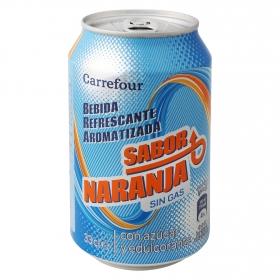 Bebida Isotónica Carrefour sin gas sabor naranja lata 33 cl.