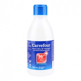 Alcohol 96º Carrefour 250 ml.