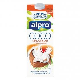 Bebida de coco Alpro - Central Bebidara Asturiana sin azúcar brik 1 l.