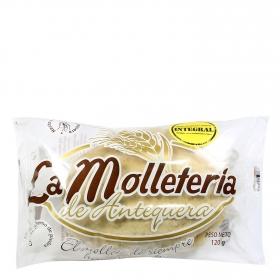 Mollete integral mediano La Molletería de Antequera pack de 2 unidades de 60 g.