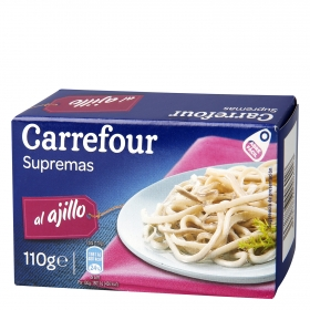 Supremas ajillo en aceite de girasol Carrefour 120 g.