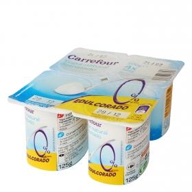Yogur natural desnatado edulcorado