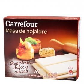 Masa de hojaldre estirada Carrefour 500 g.
