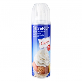 Nata montada azucarada Carrefour spray 250 ml.