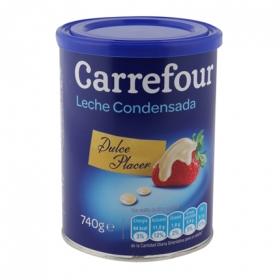 Leche condensada Carrefour 740 g.
