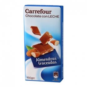 Chocolate extrafino con leche y almendras