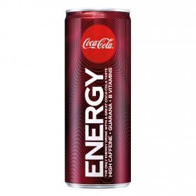 Refresco de cola Coca Cola Energy lata 25 cl.