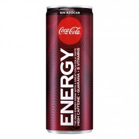 Refresco de cola Coca Cola Energy sin azúcar lata 25 cl.