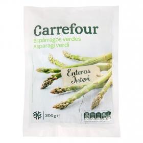Espárragos verdes enteros Carrefour 200 g.