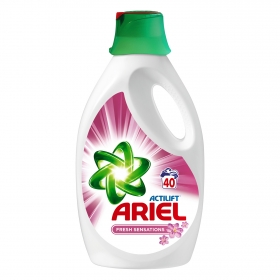 Detergente líquido Ariel 40 lavados.