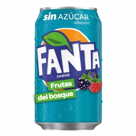 Refresco de frutas del bosque Fanta con gas lata 33 cl.
