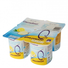 Yogur desnatado sabor limón