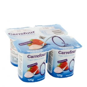 Yogur desnatado sabor fresa