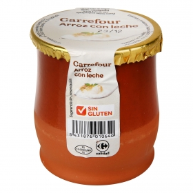 Arroz con leche Carrefour sin gluten 140 g.