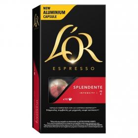 Café splendente en cápsulas L'Or Espresso compatible con Nespresso 10 unidades de 5,2 g.