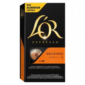 Café delizioso en cápsulas L'Or Espresso compatible con Nespresso 10 unidades de 5,2 g.