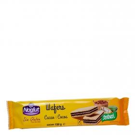 Galletas rellenas con cacao Santiveri sin gluten 150 g.