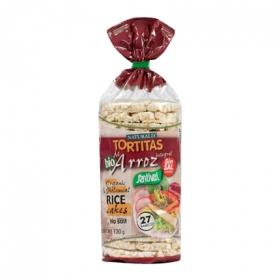 Tortitas de arroz integrales sin sal añadida ecológicas Santiveri 130 g.