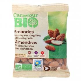 Almendras crudas sin cáscara sin sal añadida ecológicas Carrefour Bio 90 g.