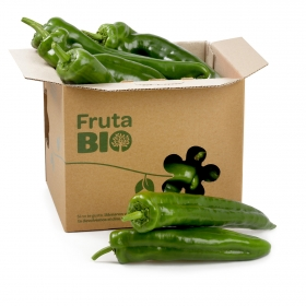 Pimiento verde Italiano ecológico Carrefour 600 g aprox
