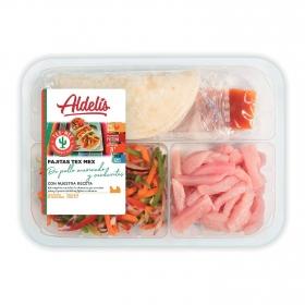 Fajitas tex mex de pollo y verduritas Adelis 380 g