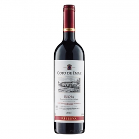 Vino D.O. Rioja tinto reserva Coto de Imaz 75 cl.