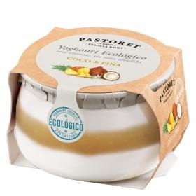 Yogur de coco y piña ecológico Pastoret 135 g.