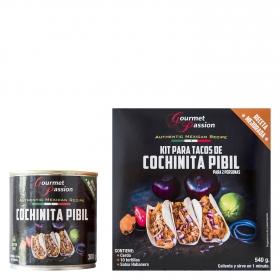 Kit para tacos de Cochinita Pibil Gourmet Passion 540 g.
