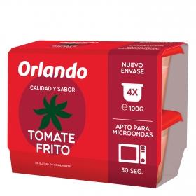 Tomate frito Orlando sin gluten pack de 4 envases de 100 g.