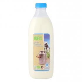 Leche semidesnatada fresca Carrefour Bio botella 1,5 l.