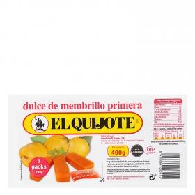 Dulce de membrillo El Quijote sin gluten pack de 2 unidades de 200 g,
