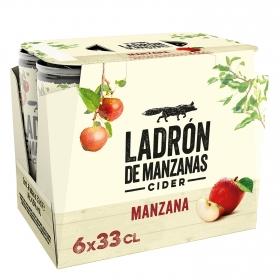 Cider Ladrón de manzanas pack de 6 latas de 33 cl.