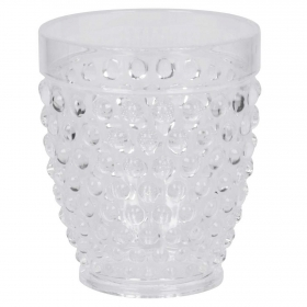 Vasos Redondo de Plástico 8,8x8,8cm - Transparente